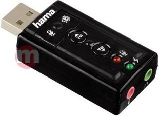 Hama 7.1 Surround USB Sound Card (516200000)