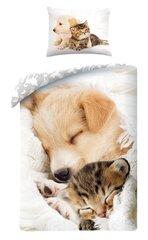 Voodipesukomplekt Koer ja kass, 2-osaline