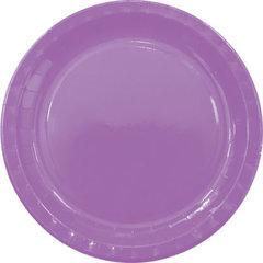 Тарелочки 23 см, 8 шт., фиолетовый