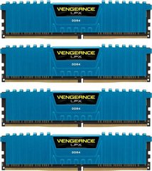 Corsair DDR4 16GB Kit (4 x 4GB) 2400Mhz, CL14, Vengeance® LPX (CMK16GX4M4A2400C14B)