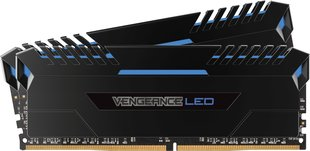 Corsair Vengeance LED DDR4, 2x8GB, 3000MHz, CL15, Blue (CMU16GX4M2C3000C15B)