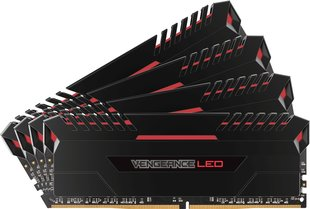 Corsair Vengeance LED DDR4, 4x8GB, 3000MHz, CL16 Red (CMU32GX4M4C3000C16R)