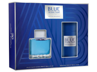 Komplekt Antonio Banderas Blue Seduction meestele: EDT 100 ml + spreideodorant 150 ml
