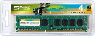 Silicon Power 4GB 1600MHz DDR3 CL11 (SP004GBLTU160N02)