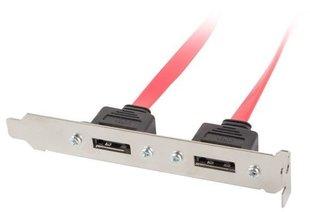 Lanberg Socket brackets 2X ESATA 50CM (BR-0003-S) hind ja info | Lisatarvikud korpustele | kaup24.ee