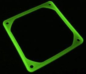 SilverStone Anti-vibration pad for 80mm fan, UV green (FS-80-G)