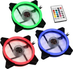 Lamptron Set 3x Nasa RGB 120mm, controller (LAMP-RGBF12252)