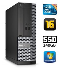 Dell 3020 SFF i3-4130 16GB 240SSD DVDRW WIN7Pro