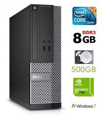 Lauaarvuti 3020 SFF i3-4130 8GB 500GB GT730 2GB DVDRW WIN7Pro