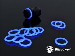"BitsPower O-Ring G1/4"", 10 pieces, UV Blue (BP-WTP-O10-UVBL)"