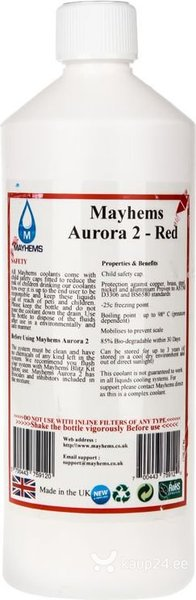 Mayhems Aurora 2 coolant, Red, 1000ml (700443759120)