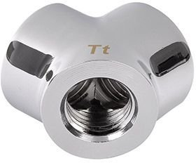 "Thermaltake Pacific G1/4"" Y Chrome Adapter (CL-W054-CU00SL-A)"