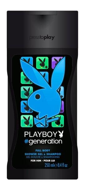 Dušigeel Playboy Generation For Him meestele 250 ml hind ja info | Lõhnastatud kosmeetika meestele | kaup24.ee