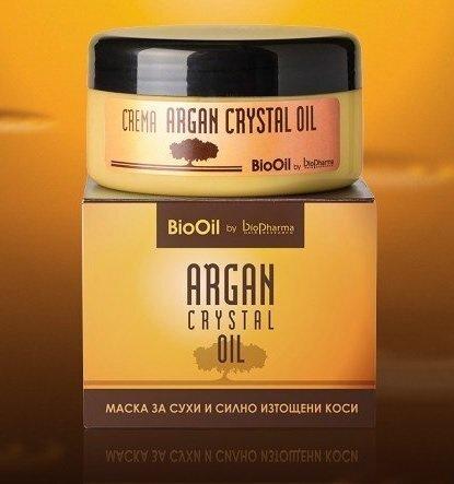 Juuste mask argaaniõliga Biopharma Argan Crystal Oil 250 ml цена и информация | Juuksepalsamid | kaup24.ee