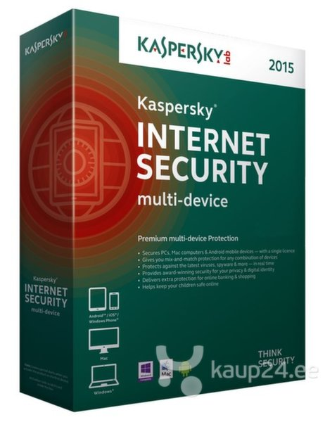 KASPERSKY Internet Security 2015, pikendamine 5-le цена и информация | Viirusetõrje | kaup24.ee