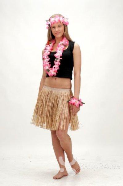 Гавайская юбка, 40 см цена и информация | Karnevali  kostüümid | kaup24.ee