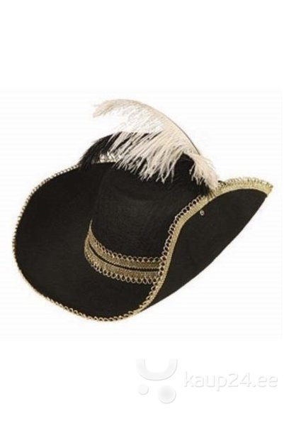 Шляпа с пером для Мушкетер цена и информация | Karnevali  kostüümid | kaup24.ee