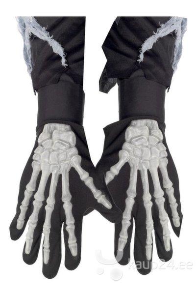 Перчатки скелета (для взрослых) цена и информация | Karnevali  kostüümid | kaup24.ee
