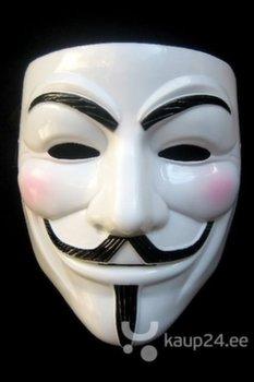 Vendetta Guy Fawkes mask, valge hind ja info | Karnevali kostüümid | kaup24.ee