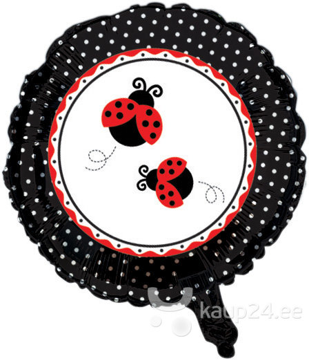 Õhupall Ladybird, 45 cm цена и информация | Peolaua kaunistused, dekoratsioonid | kaup24.ee