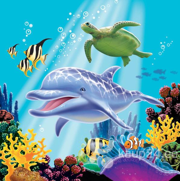 Salvrätikud ookeaniga, 16 tk цена и информация | Peolaua kaunistused, dekoratsioonid | kaup24.ee