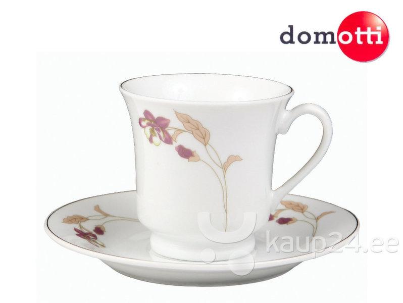 Кофейный набор Domotti Орхидея, 12 частей. цена и информация | Klaasid, tassid ja kannud | kaup24.ee