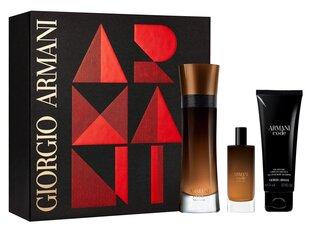 Komplekt Giorgio Armani Code Profumo: EDP meestele 110 ml + dušigeel 75 ml + EDP meestele 15 ml