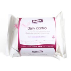 Niisked salvrätikud Purex Daily Control 3 x 25 tk