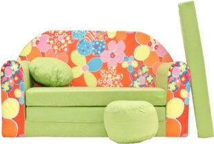 Diivan Welox Maxx Z19, roheline/oranž hind ja info | Lastetoa kott-toolid, tugitoolid ja tumbad | kaup24.ee