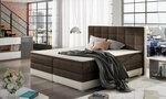 Voodi Damaso, 180x200 cm, pruun/kreemikas hind ja info | Voodid | kaup24.ee