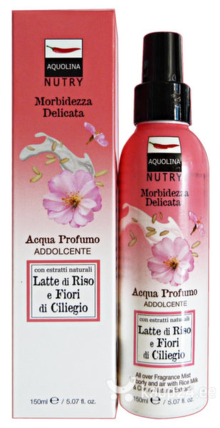 Kehasprei Aquolina Nutry Active Energy Fragrance Mist Rice Milk & Cherry Flowers 150 ml