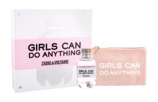Komplekt Zadig & Voltaire Girls Can Do Anything: parfüümvesi EDP naistele 90 ml + kosmeetikakott