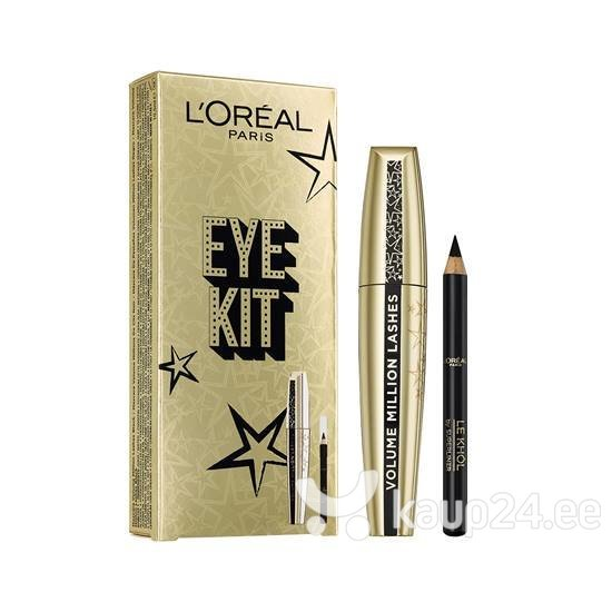 Kosmeetika komplekt L'Oreal Paris Xmas 2018: ripsmetušš Volume Million Lashes 9 ml + silmakontuurpliiats Color Riche Khol 0.6 g