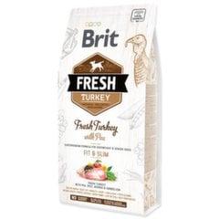 Brit Fresh для собак с низкой активностью с индейкой и горохом, 12 кг