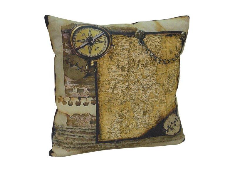 COMCO декоративная подушка, Maps, 45x45