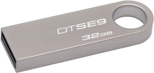 Mälupulk Kingston DataTraveler SE9, 32GB, USB 2.0 , hõbedane