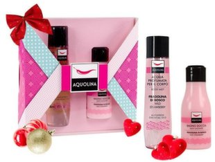 Kehahooldusvahendite komplekt: dušigeel 125 ml + kehasprei Aquolina Pink Window Wild Strawberry 150 ml