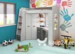 Narivoodi Antresola L, 200x80 cm, valge/hall hind ja info | Lastevoodid | kaup24.ee