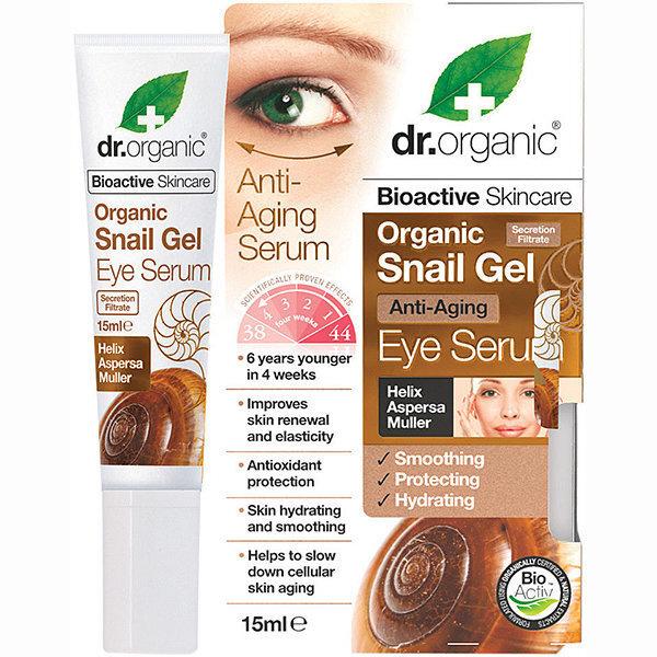 Silmaümbruse seerum teolima ekstraktiga Dr. Organic Snail Gel 15 ml
