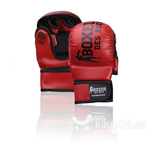 Karate ja fitboxi kindad Boxeur Des Rues BXT-5211, punane