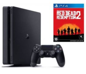 Mängukonsool Sony Playstation 4 (PS4) Slim 1TB + Red Dead Redemtion 2