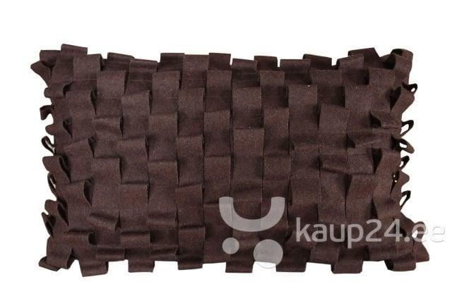 Dekoratiivne padjapüür, 30x50 cm, pruun цена и информация | Dekoratiivsed padjad | kaup24.ee