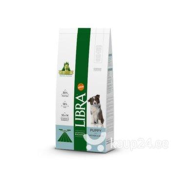 Kuivtoit Libra kutsikatele, 2 kuni 12 kuud, kanaliha ja riisiga Dog Puppy, 15 kg