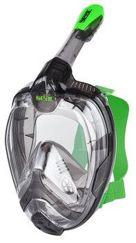 Sukeldumismask Seac Magica, hall/roheline