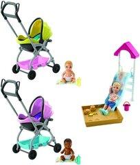 Barbie beebi jalutuskäru/liumägi, FXG94 hind ja info | Barbie beebi jalutuskäru/liumägi, FXG94 | kaup24.ee