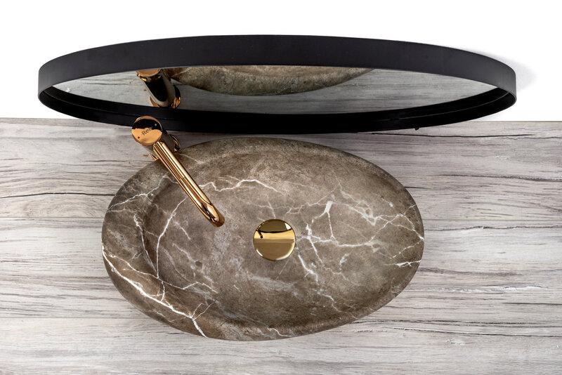 Valamu REA Roxy, 49 cm, natural stone