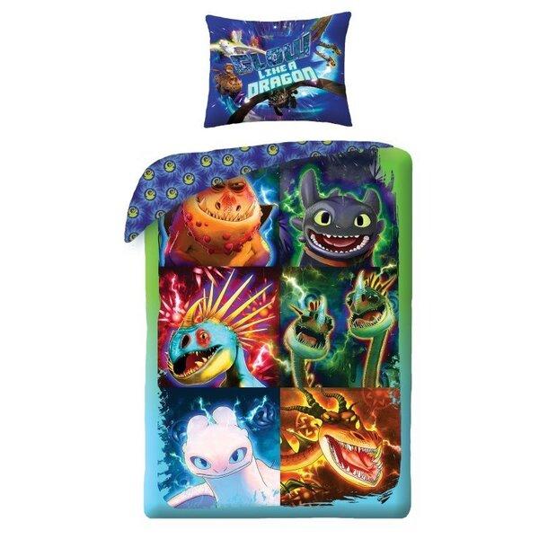 Laste voodipesukomplekt Draakon 140x200 cm, 2-osaline