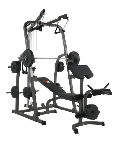 Универсальная тренировочная скамья Hammer Solid XP с 76 кг весами цена и информация | Treenimise pingid, kangid | kaup24.ee