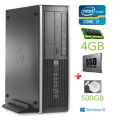 HP 8100 Elite SFF i7-860 4GB 120SSD+500GB DVD WIN10Pro