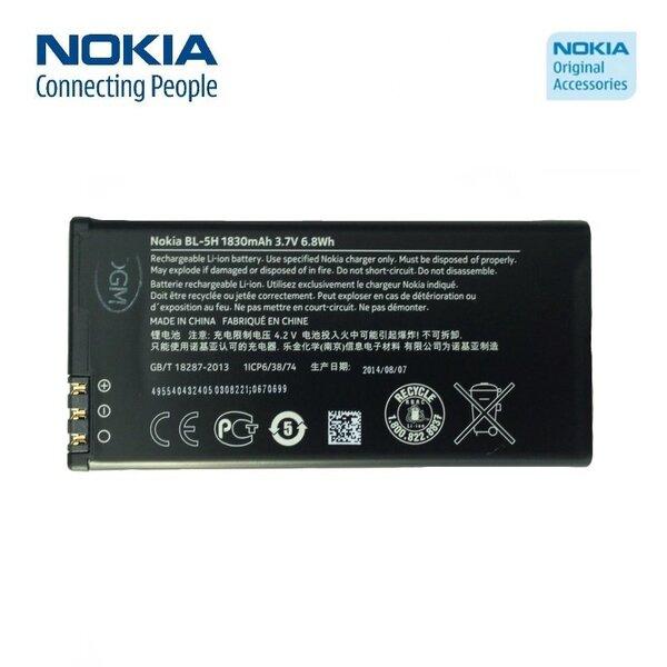 Nokia BL-5H Lumia 630 635 Li-Ion 1830mAh hind ja info | Mobiiltelefonide akud | kaup24.ee